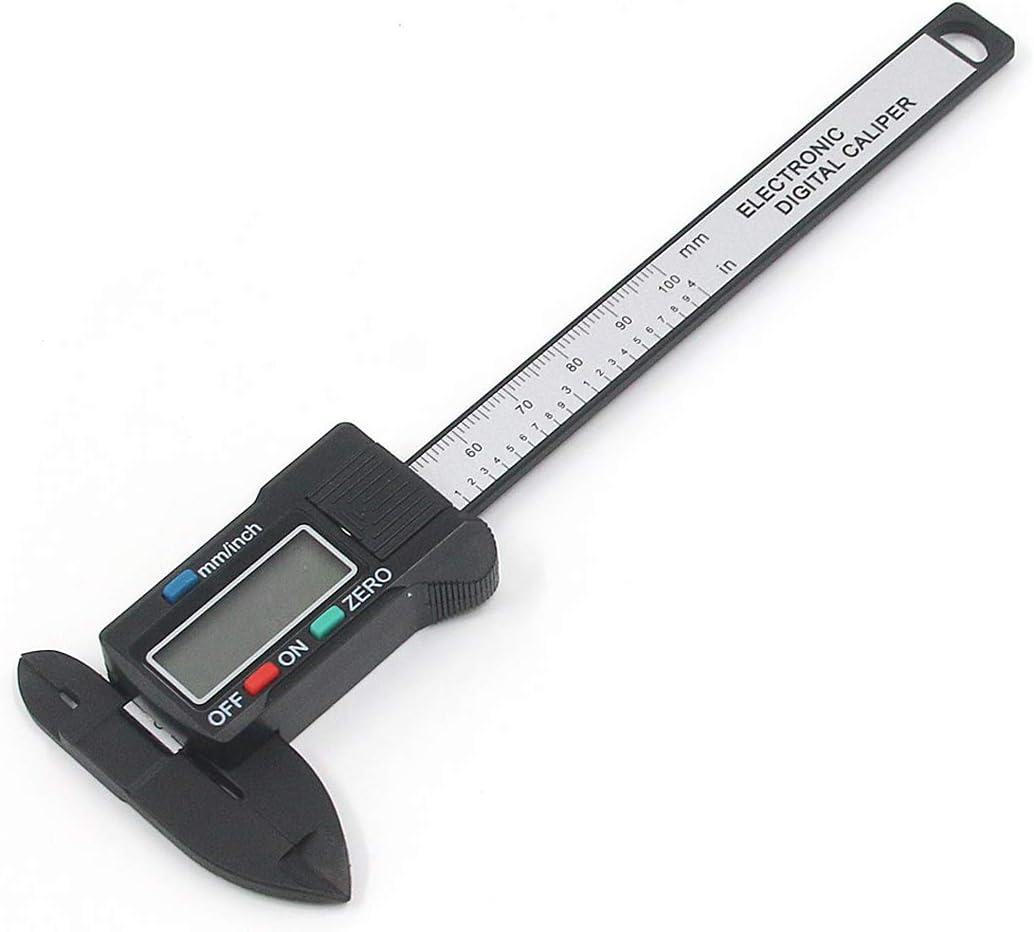 100mm Carbon Fiber Measures Inner Outer Diameter DIGITAL CALIPER 4 inch