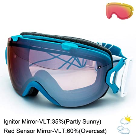 Smith Optics I OS Vaporator Series Winter Sport Snowmobile Goggles Eyewear – Aqua Prism Ignitor Small Medium