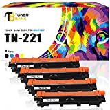 [4-PACKS] TN225 TN221 Toner Cartridge Replacement for Brother HL-3170CDW MFC-9130CW MFC-9340CDW MFC-9330CDW Printer High Yield Toner for Hammermill HP Paper HP 61 Copy Printer Printing Paper 8.5 x 11