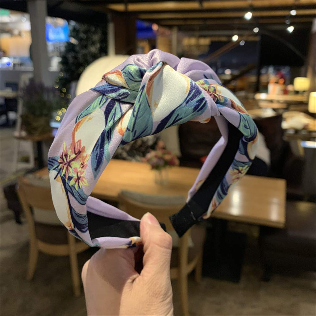 YOMXL Headbands,Wide Cross Knot Hair Band Cute Bow Hair Hoops Simple Chiffon Headbands Women Hair Accessories