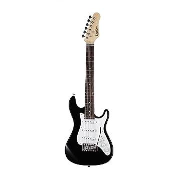 EAGLETONE Phoenix Junior guitarra eléctrica, Negro, 3/4