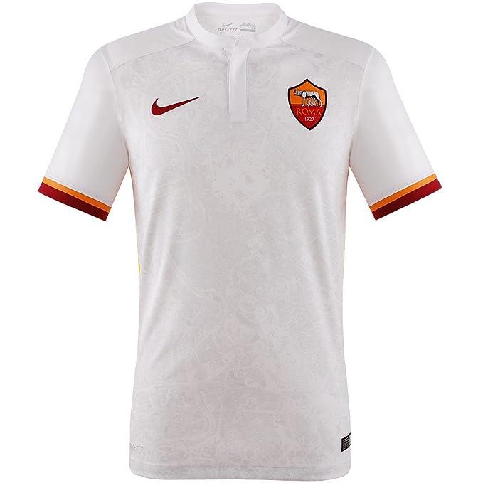 f8c1a2c07 Magliette da Calcio Roma Away 2015/2016, Bambino, Bianca: Amazon.it:  Abbigliamento