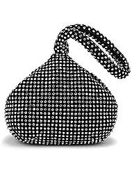 Jubileens Women's Luxury Triangle Full Rhinestones Evening Clutch Bag Wedding Purse