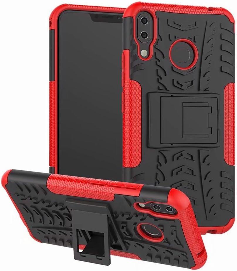 FaLiAng /Étui ASUS ZenFone 5Z 2en1 Armure Combinaison Antichoc Heavy Duty Bouclier Shield Coque Rigide Housse pour ASUS ZenFone 5Z Hot Pink ZS620KL ZS620KL