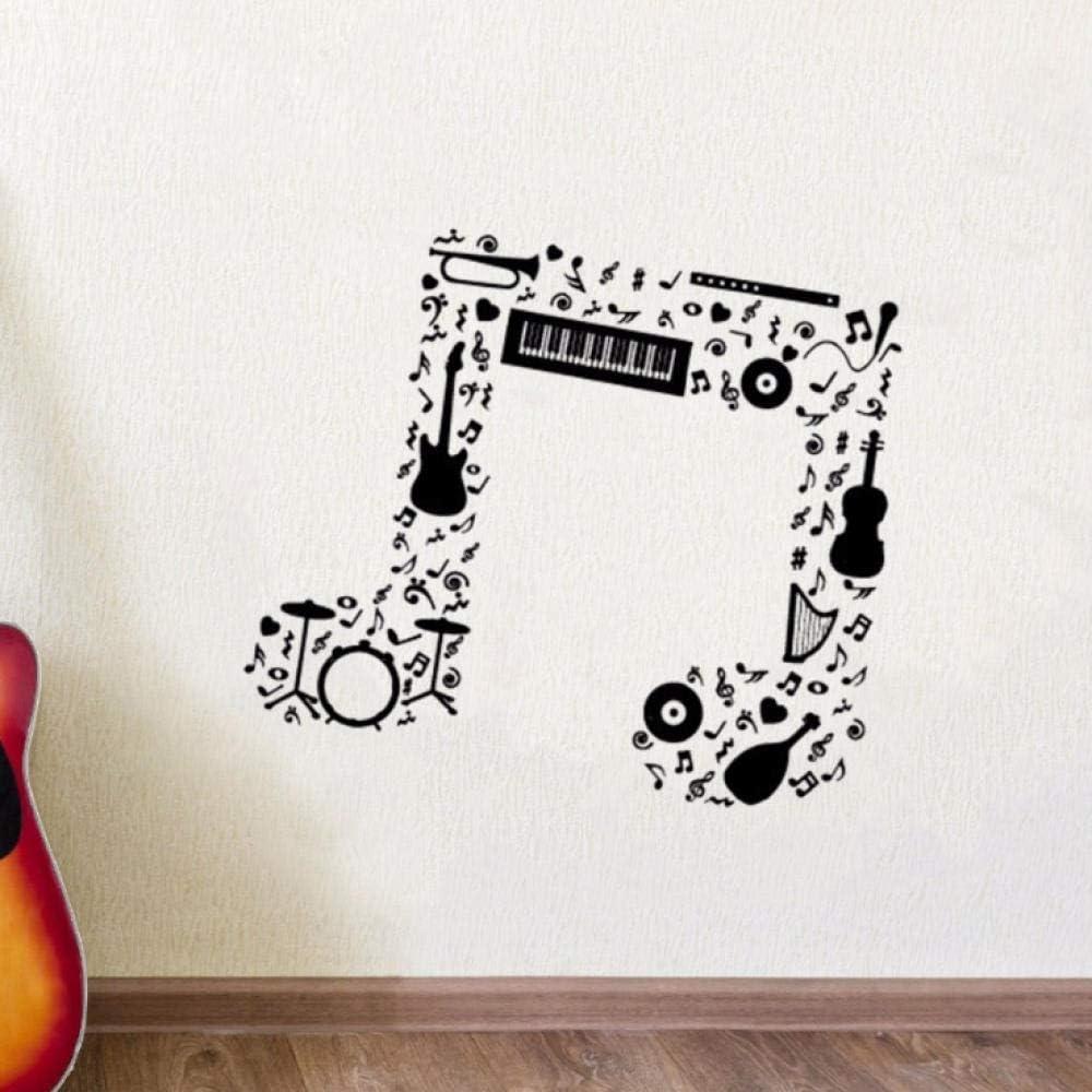 Pegatinas De Pared Nota Musical Etiqueta De La Pared Guitarra ...