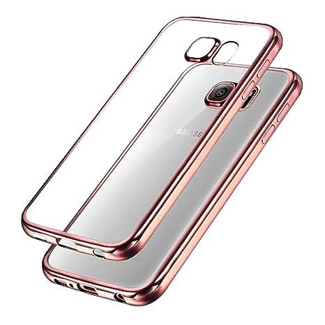 UBEGOOD Samsung Galaxy S7 Hülle Kratzfeste Plating TPU Case für Samsung Galaxy S7 Case Schutzhülle Silikon Case Durchsichtig