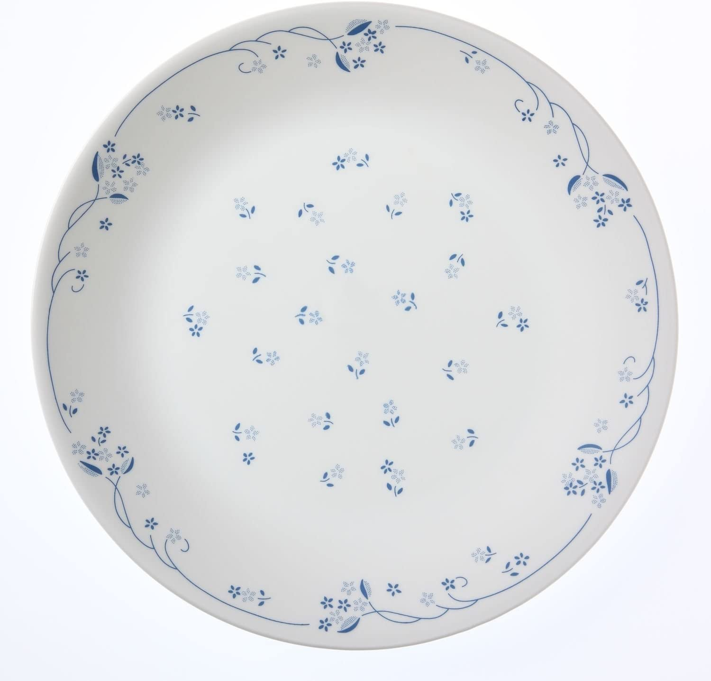 """New Set of 4 New Corelle Livingware Cornflower blue//white 10.25/"""" Dinner Plates"""
