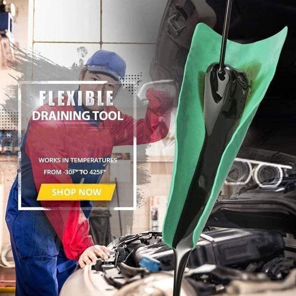 Funsquare Outil De Vidange Dhuile Flexible Outil De Vidange Pliable R/éutilisable Plaque De Guidage Dhuile