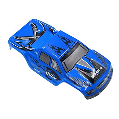 Mintuse Car Body Shell Cover Case, Upgraded Part for Wltoys A979 A979-04 1:18 RC Car (Blue): Toys & Games