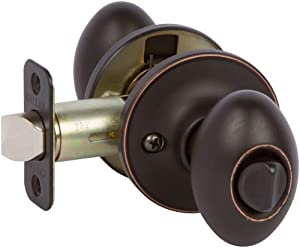 Delaney Hardware KE1027 102T-CA-US10BE-Privacy Carlyle Knob Privacy, Edge Oil Rubbed Bronze