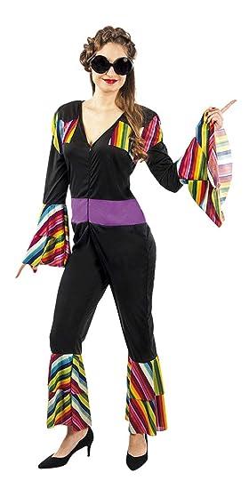 atelier bro s.l.u. Disfraz Hippie Discodance Mujer M-L: Amazon.es ...