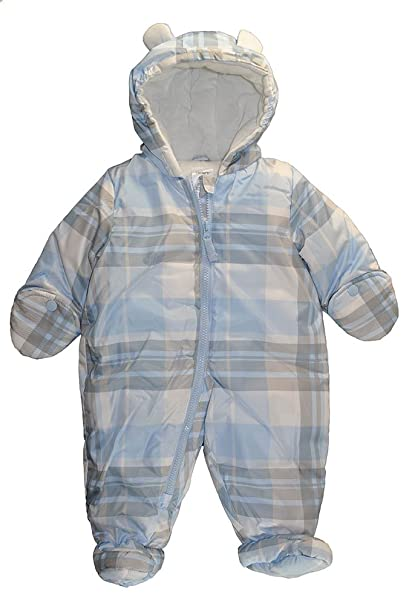 Carter's Baby-Boys Newborn Carters Newborn Boy Printed Pram, Light Blue, 6/9 Months