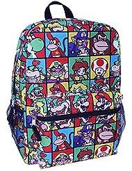 Nintendo Mario 16 Kids Backpack with Front Zip Pocket