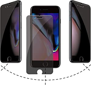AACL Privacy Screen Protector for iPhone 6 Plus/7 Plus/8 Plus,5.5 Inch,Anti Spy Tempered Glass Film,2 Pack
