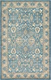 Luxury Vintage Persian Design ziegler Rug Light Blue 5' x 8' St.George Collection Area Rugs
