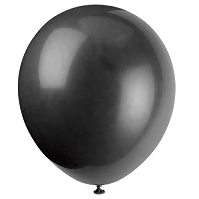 "Unique Industries, 12"" Latex Balloons, DIY Party Decoration - Pack of 72, Black: Kitchen & Dining"