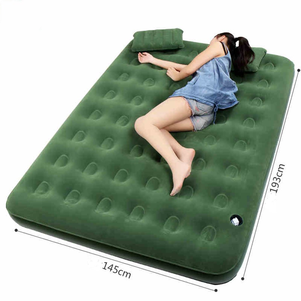 Sheng Air Bett Doppelbett Bett aufblasbare Bett Bett Bett aufblasbare Rest Schlafbett im Freien Camping Luftbett ( Farbe   Charged pump ) 887d73