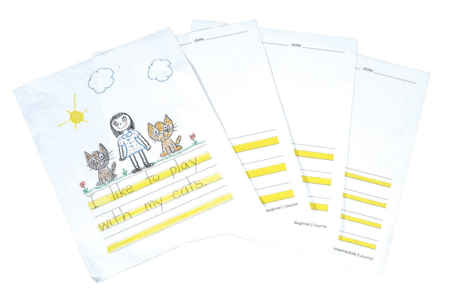 Abilitations Hi-Write Beginner 1 Journal Paper, 9-3/4 x 12-3/4 Inches, White, Pack of 100