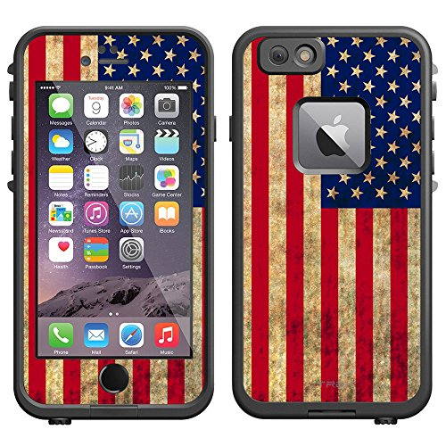 Skin Decal for LifeProof Apple iPhone 6 Case - Retro American - Retro Flag
