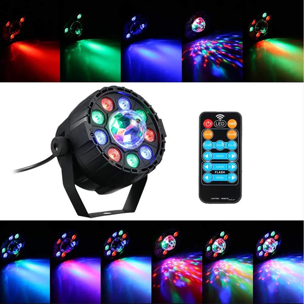 HLGY LED Magic Ball Light Mini RGB Light Suitable for Bar Light Stage Ambient Lights Festival Family Party Lights, Etc.
