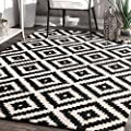 nuLOOM MTVS174A Black Hand Tufted Kellee Area Rug, 5 x 8, Black