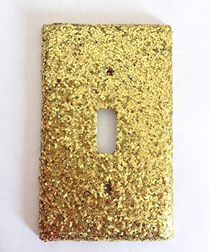 Gold Glitter Single Switch cover / Switch Plate / Glamorous Room / Bedroom Decor / Gift Idea / Sparkle