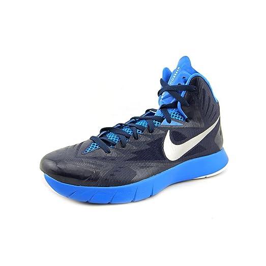 Nike Men's Lunar Hyperquickness TB Basketball Shoes-Royal Blue/Silver-9