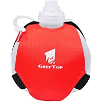 Geertop Hands-Free Water Bottle 7 oz Hydration Sports with Adjustable Strap for Running, Hiking, Cycling, Yoga, Jogging or The Gym
