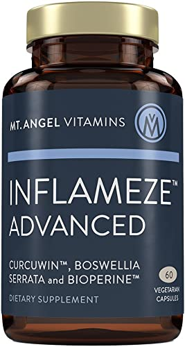 Mt. Angel Vitamins – Inflameze Advanced, with CurcuWIN, Highest Bio-Available Form of Tumeric Curcumin with Bioperine 60 Vegetarian Capsules