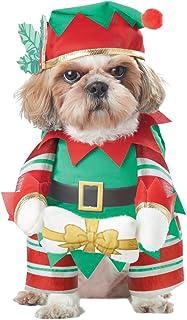 Elf Pup Dog Costume  sc 1 st  Amazon.com & Amazon.com : NACOCO Pet Christmas Costumes Dog Suit with Cap Santa ...