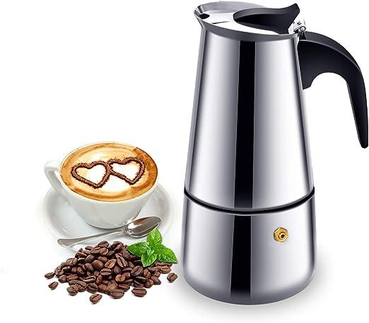 Cafetera italiana de inducción, para café expreso y café, de acero ...
