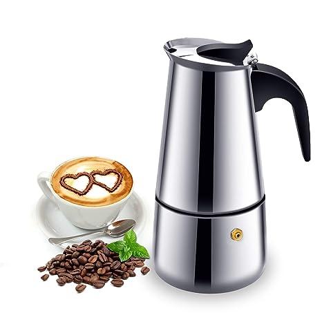 Cafetera italiana de inducción, para café expreso y café, de ...