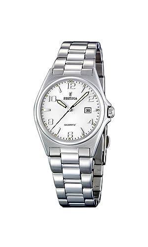 Festina Damen-Armbanduhr XS Klassik Analog Edelstahl F16375/5