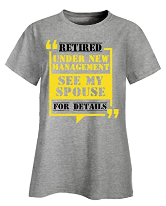 Under New Management Funny Womens Ladies T-Shirt