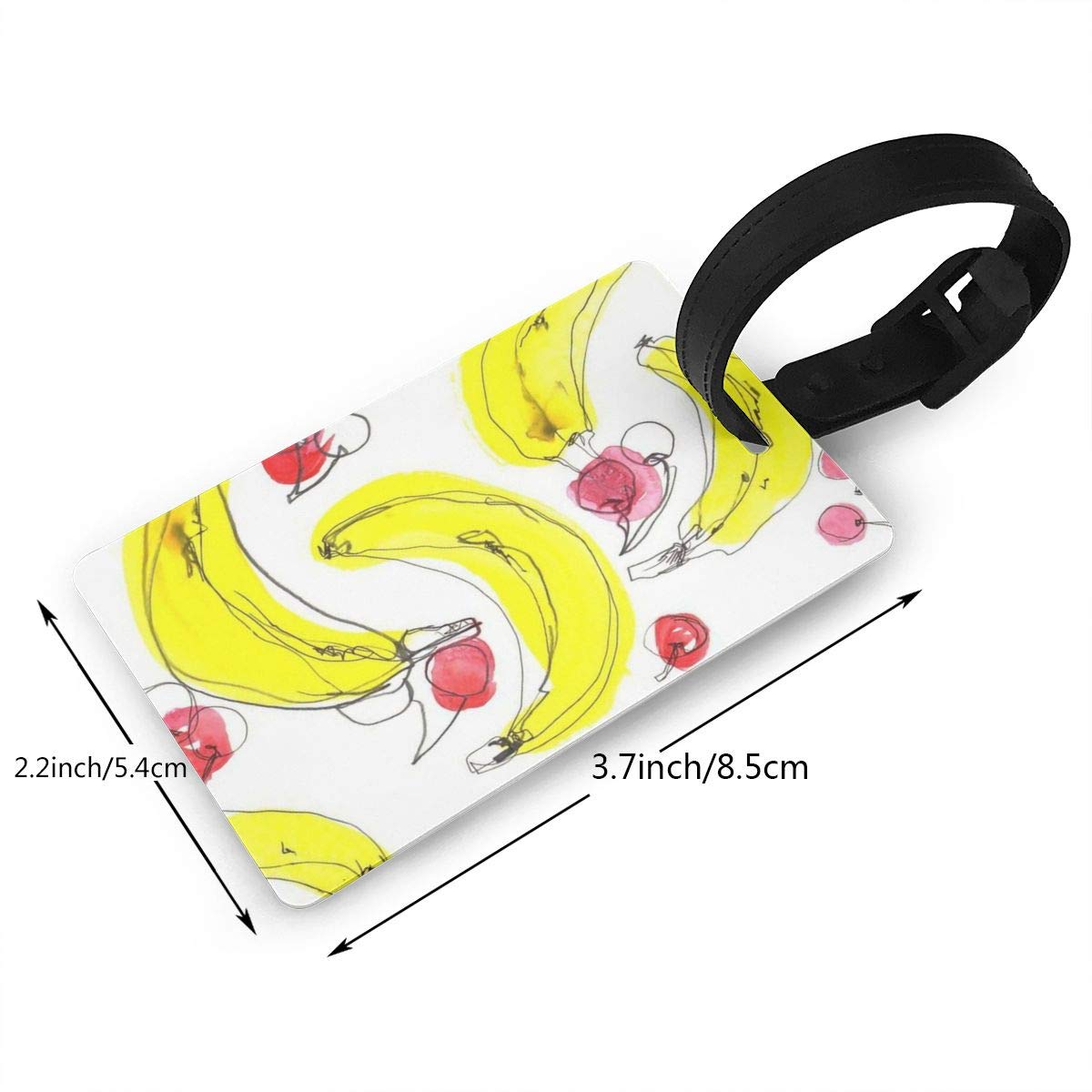 2 Pack Luggage Tags Banana Pattern Travel Tags For Suitcase Bag Accessories