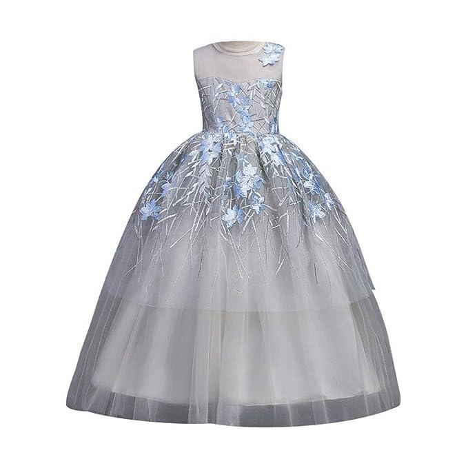 f7a49bf80 Bmeigo Niñas Princesa Boda Vestidos Largos de Fiesta de Gala Vestido ...