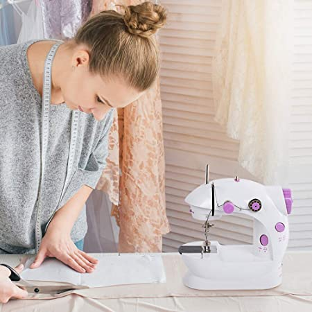 NEX - Mini máquina de coser con pedal (2 velocidades, para ...