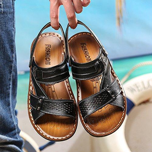Sandali della spiaggia di estate degli uomini di estate degli uomini di nuovo modo degli uomini Sandali di ventilazione, nero, UK = 8, EU = 42