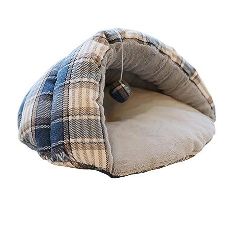 Lamzoom Cama para Mascotas Perros medianos Gatos Suave Premium Peluche Impermeable Cama Perro Lavable a máquina