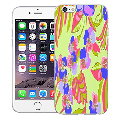 """Mobile Case Mate iPhone 6 Plus 5.5"""" Silicone Coque couverture case cover Pare-chocs + STYLET - Exotic Floral pattern (SILICON)"""
