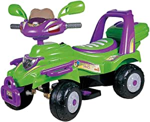 Electric Ride On Motorcycle 4 wheel green by best toy 29-628