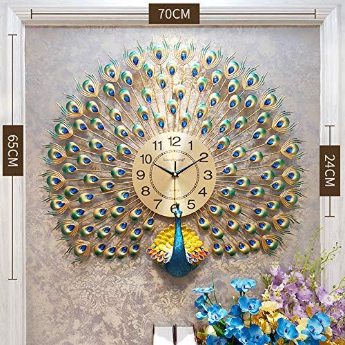 HAOLY Auspicious Peacock Wall Watch,Personality Creativity Clocks,Fashion Modern Wall Clock,Home Quartz Clock-B - Fashion Modern Watch