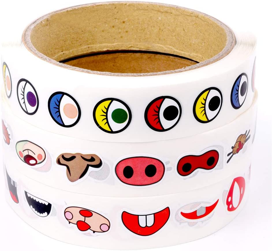Amazon Com Kinmad Mini Colorful Cute Cartoon Eye Nose Mouth Decal