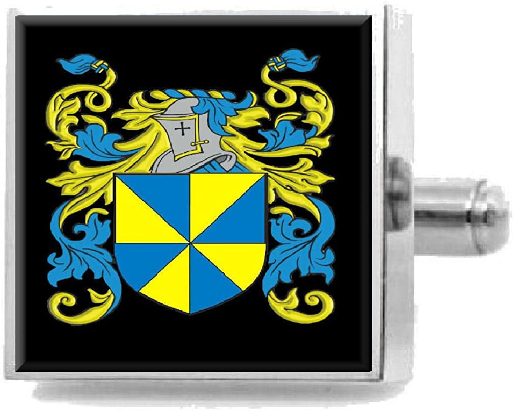 Select Gifts Faulks England Heraldry Crest Sterling Silver Cufflinks Engraved Message Box