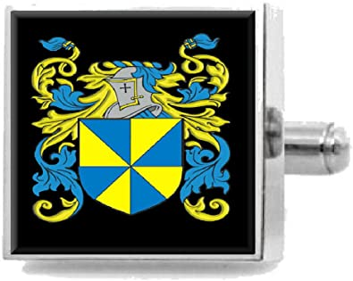 Select Gifts Chance England Heraldry Crest Sterling Silver Cufflinks Engraved Message Box
