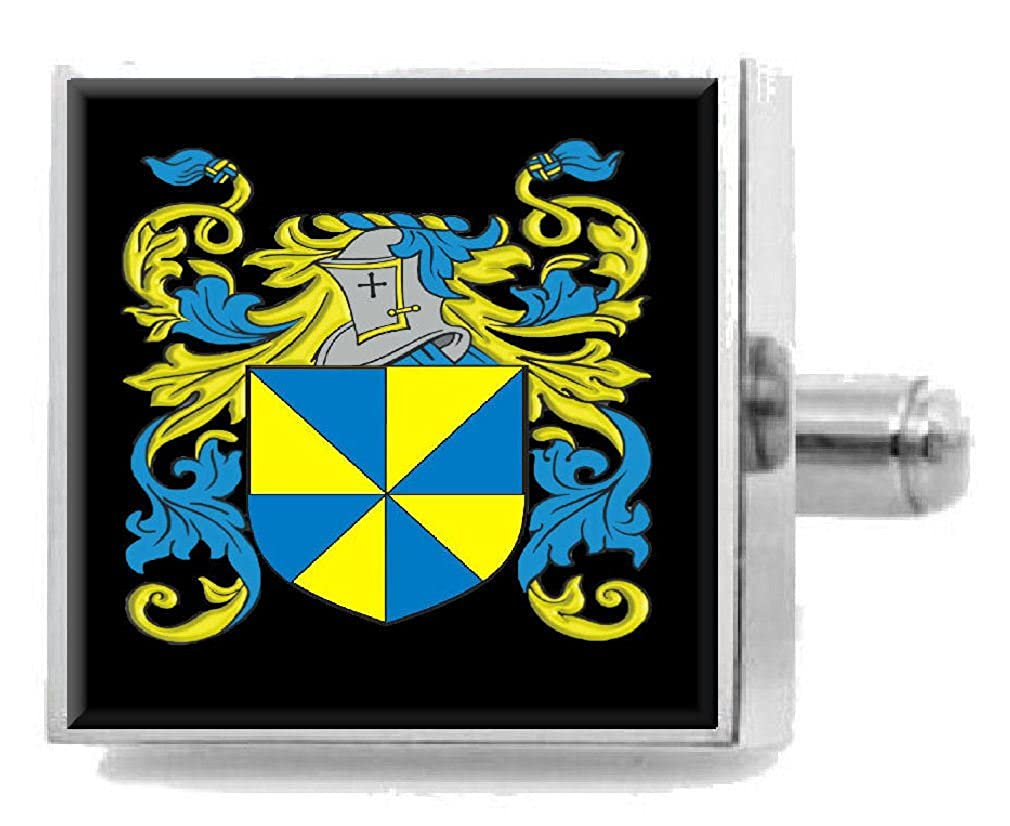Select Gifts Hynard England Family Crest Surname Coat Of Arms Cufflinks Personalised Case