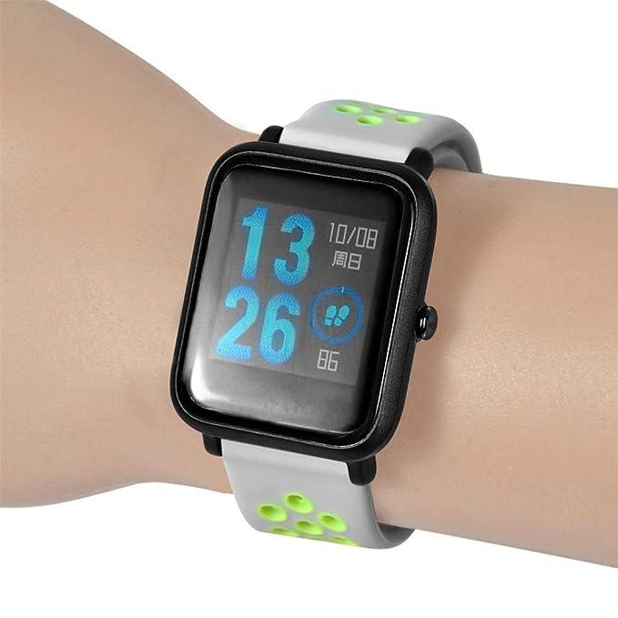 ☀️Modaworld Pulsera Ligera Muñequera Wristband Correa de Reloj Pulsera de Repuesto para Xiaomi Amazfit Bip Youth Watch Banda de Reloj smartwatch (Azul, ...