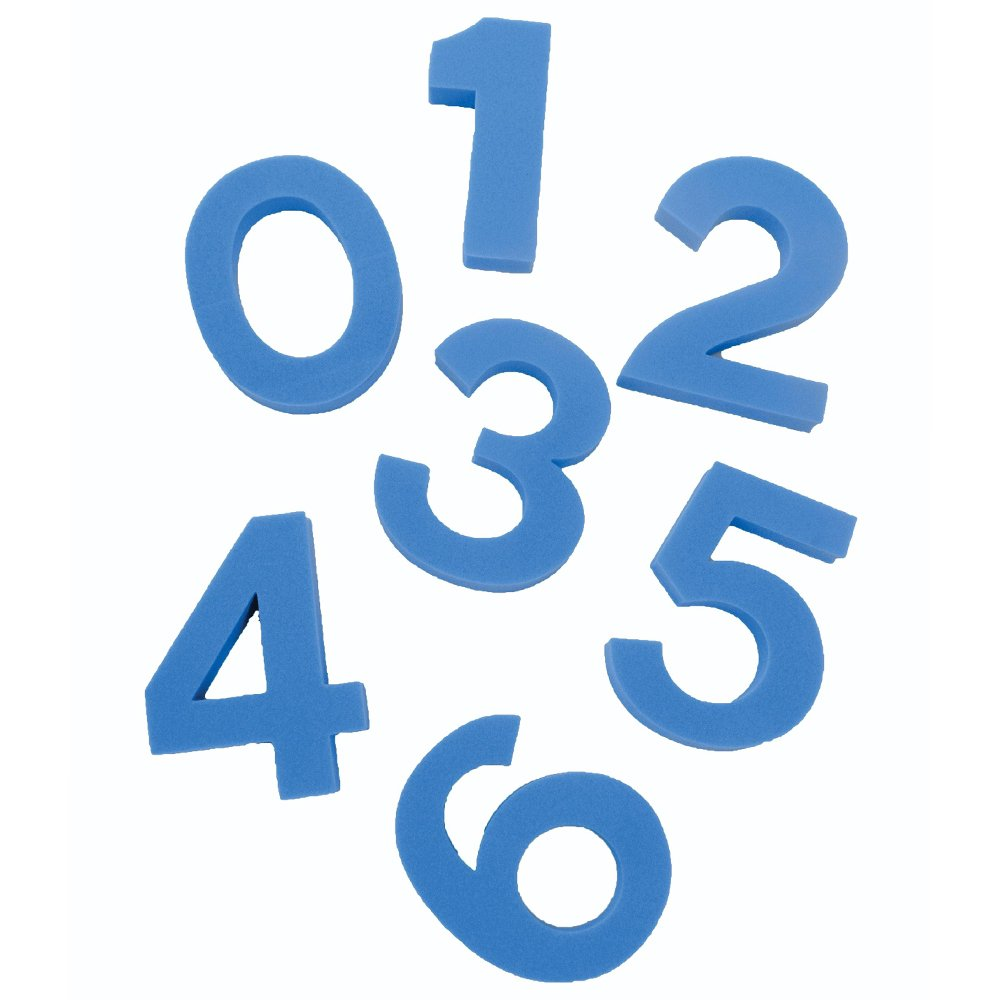 Sportsgear US Kids Swimming Pool Fun Floating Blue Foam Numbers Set of 1 to 10