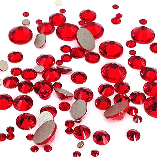 Flat Back Crystals Red Light - 1