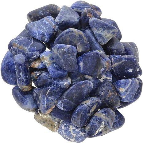 5 Small 10mm Combo Ship Tumbled Gem Stone Crystal Natural Sodalite